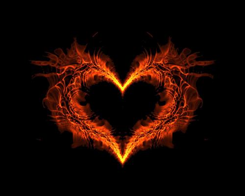 imagen tierna de un corazon ardiente