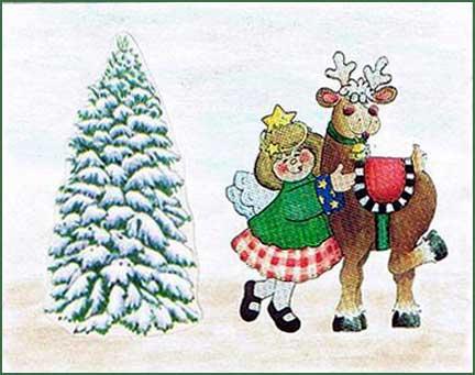 imagenes de navidad reno y reina