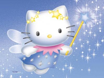 Imagen tierna de Hello Kitty Imágenes tiernas de hadas