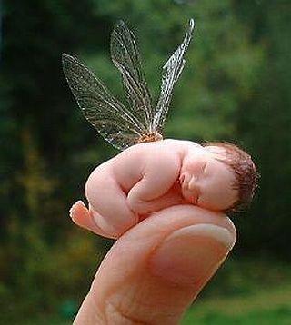 Imagen tierna de bebe hada
