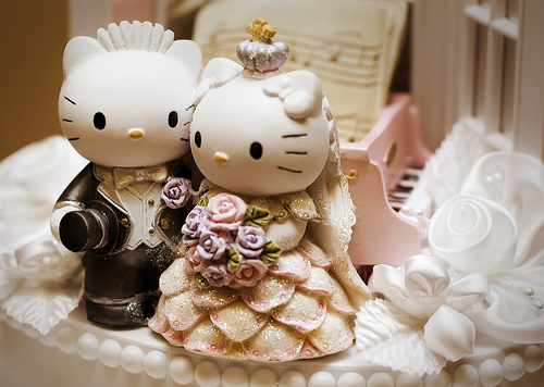 Hello Kitty Imgenes tiernas de muequitos de boda
