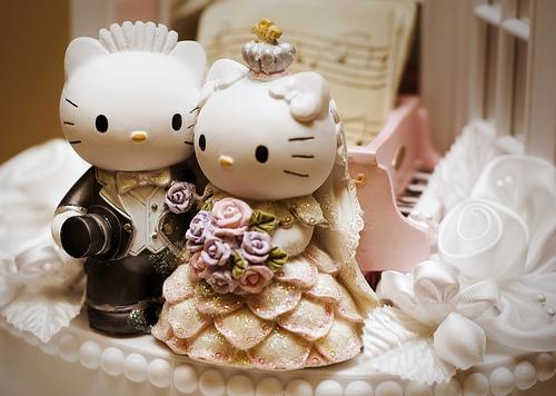 Hello Kitty Imágenes tiernas de muñequitos de boda