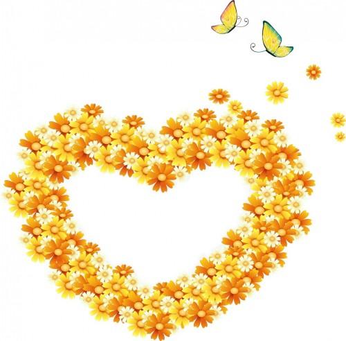corazon margaritas mariposas e1339859449391 Imágenes tiernas con flores