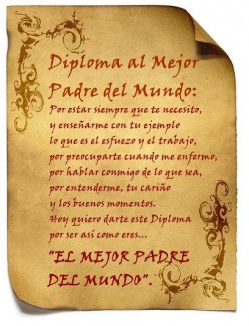 diploma del mejor padre del mundo e1339883105423 Imágenes tiernas para el día del padre