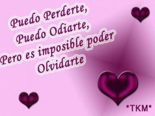 es imposible olvidarte postal de amor e1339687668881 Imágenes tiernas de Imposible olvidarte