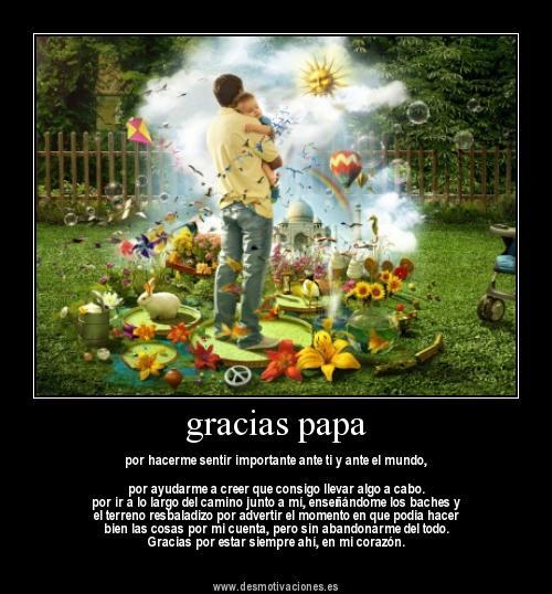 imagen tierna Gracias papa Imágenes tiernas para el día del padre