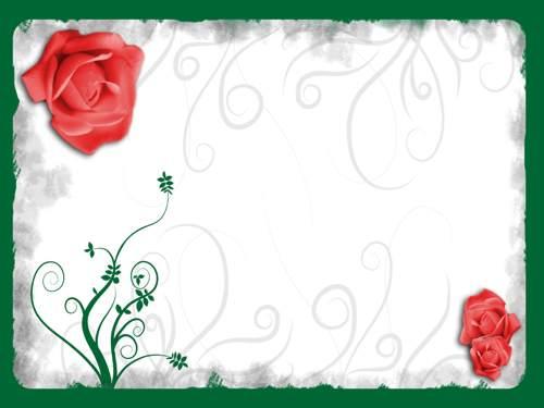 marco para carta de amor}