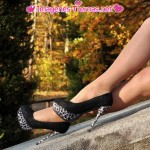 zapatos altos animal print