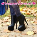zapatos negros con plataforma