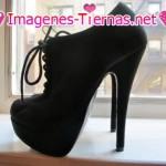 zapatos negros taco alto 150x150 Imágenes de zapatos