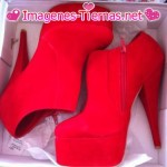 zapatos rojo caliente