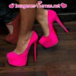 zapatos rosados tacos altos 150x150 Imágenes de zapatos