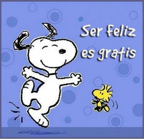 Ser feliz es gratis e1341703186197 Imágenes tiernas de Snoopy