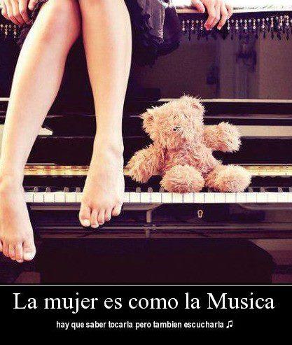La mujer es como la musica,