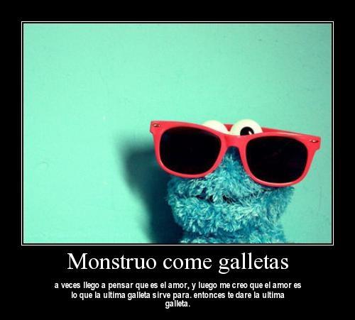 Monstruo come galletas Imágenes tiernas del mounstro come galletas