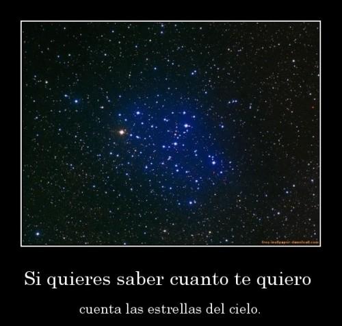"""Si quieres saber cuanto te quiero cuenta las estrellas del cielo e1345592469192 Imágenes con mensaje: """"Si quieres saber cuánto te quiero cuenta las estrellas del cielo"""""""