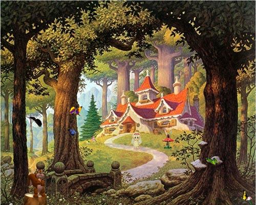 bosque misterioso Imágenes lindas sobre paisajes de bosques encantados