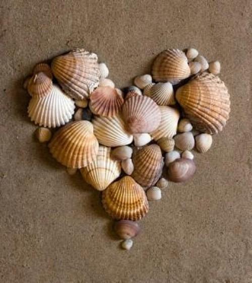 corazon de conchas e1345300526262 Imágenes de corazones en la playa