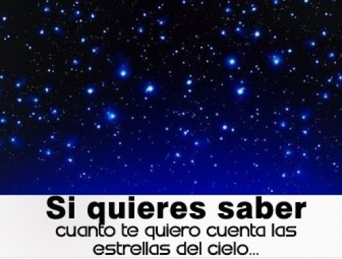"""si quieres saber cuanto te quiero e1345592434818 Imágenes con mensaje: """"Si quieres saber cuánto te quiero cuenta las estrellas del cielo"""""""