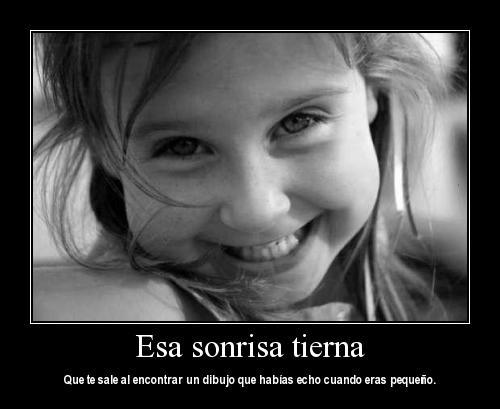 tierna sonrisa