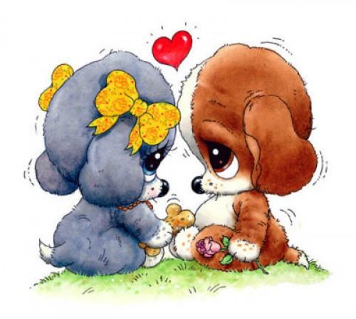 Perritos enamorados e1346864882175 Imágenes tiernas de perritos enamorados