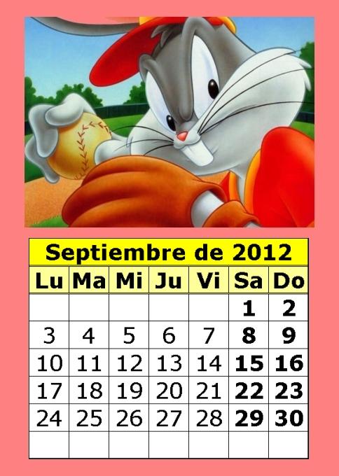 calendario septiembre 2012 Imágenes tiernas para septiembre