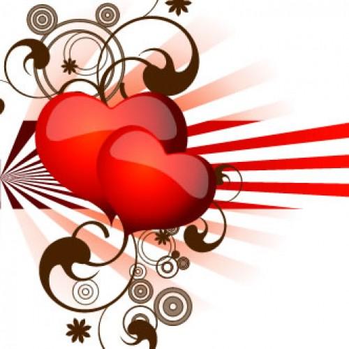 corazones abstractos