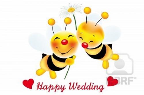dos-de-las-abejas-lindas-en-amor