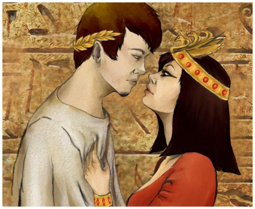Cleopatra y cesar e1349124771502 Imágenes románticas egipcias