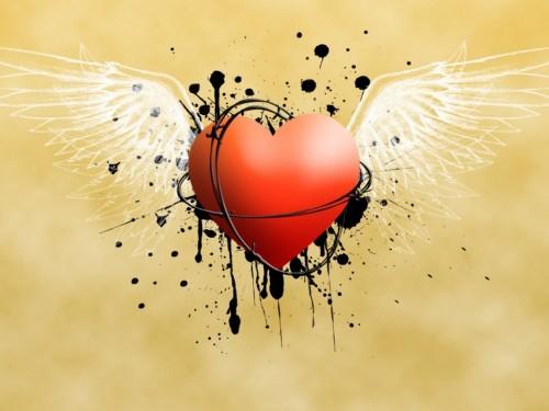 Corazon con alas e1349285534970 Imágenes tiernas de Corazones con alas