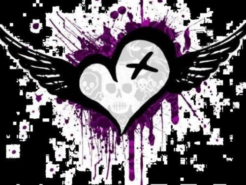 Imagenes para Metroflog corazones emo4 e1349285706114 Imágenes tiernas de Corazones con alas