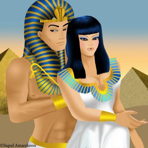 Pareja egipcia e1349124820570 Imágenes románticas egipcias