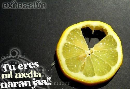 "Tu eres mi media naranja Imágenes de amor: ""Media naranja"""