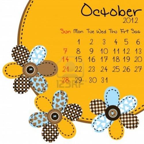 calendario de octubre 2012 e1349116586890 Imágenes lindas del mes de Octubre