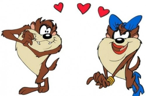 taz1 e1349068528231 Imagenes tiernas de Tazmania enamorado