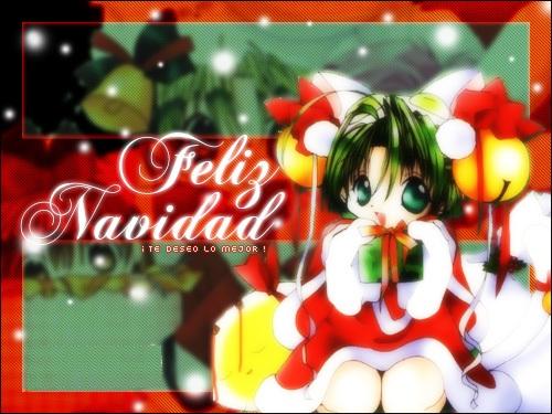 003 postales navidad1 Postales tiernas Animes