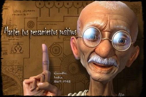 Ghandi Imágenes con frases positivas