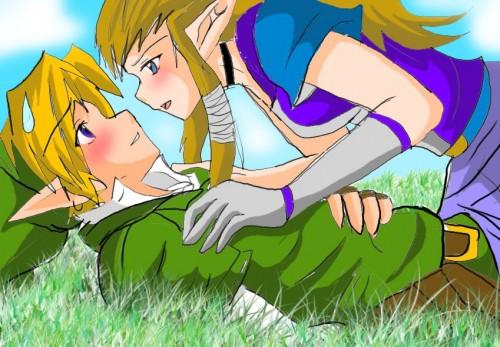 Link Zelda love e1353824904127 Imágenes románticas de Link y Zelda