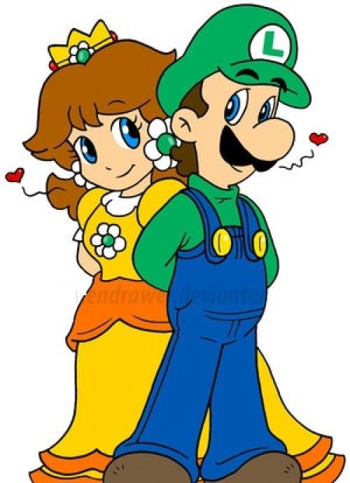 Luigi Daisy e1353021137489 Imágenes tiernas de la princesa Daisy