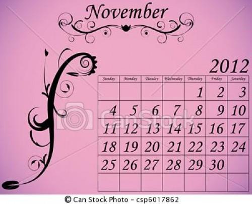 calendario noviembre e1351784440902 Imágenes de Calendario Noviembre 2012