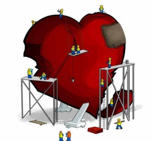 corazon roto construir e1352491185862 Imágenes tiernas de corazón roto
