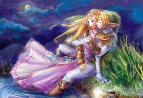 link y zelda Imágenes románticas de Link y Zelda