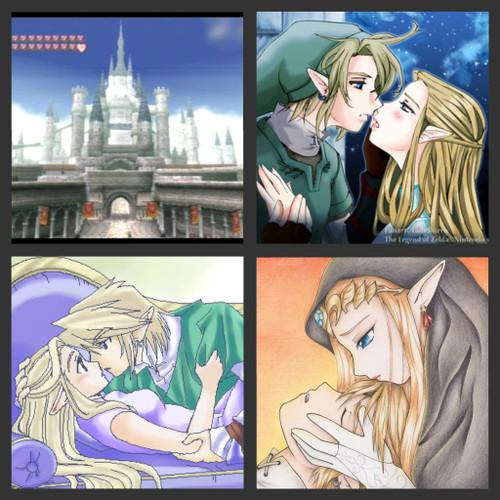 link Imágenes románticas de Link y Zelda