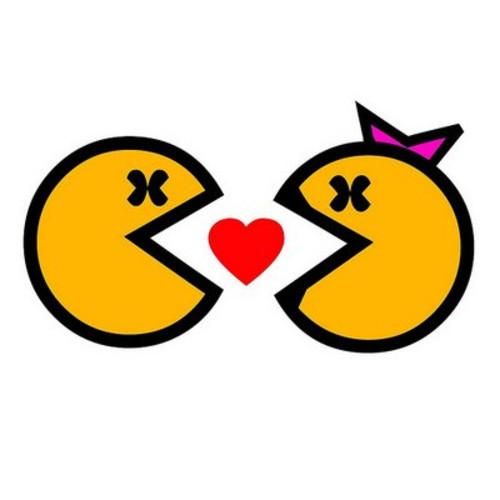 pacman enamorado Imágenes tiernas de Pacman