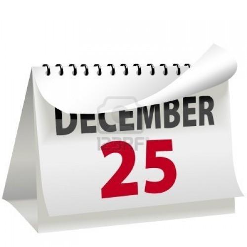 3901152 un calendario se convierte una pagina para cambiar a 25 de diciembre dia de navidad una carta de roj e1356441277698 25 de Diciembre