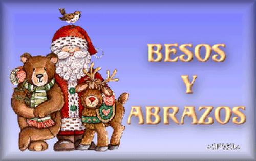 BESOSYABRAZOS e1355408777885 Imágenes de besos navideños