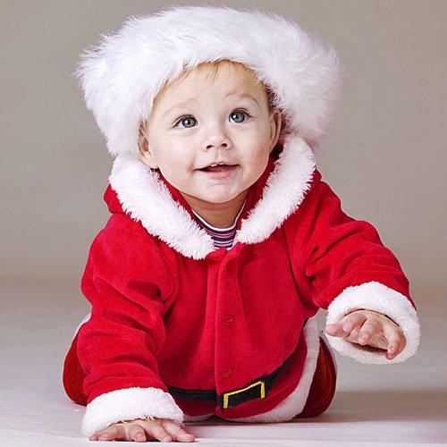 Disfraz de Papá Noel para bebe Bebés disfrazados de Santa Claus