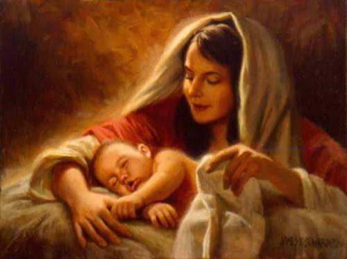 Jesus y Maria e1356443673143 Imágenes tiernas del niño Dios