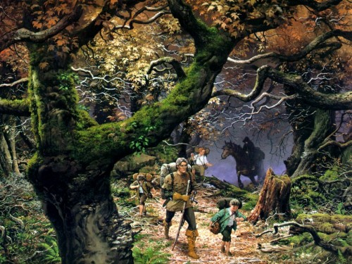 Ted Nasmith Les hobbits et Grand Pas e1356530245285 Imágenes bonitas de Hobbits
