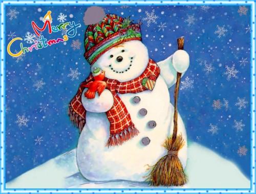 muñeco de nieve e1356129311615 Imágenes tiernas de muñecos de nieve